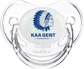 KAA Gent : Sucette Transparent classique embout physiologique