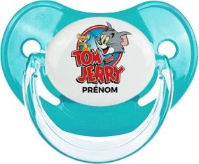 Tom & Jerry + prénom : Sucette Bleue classique embout physiologique