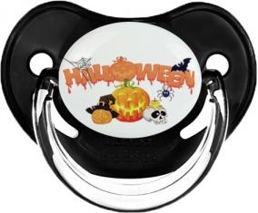 Halloween style 2 : Sucette Noir classique embout physiologique