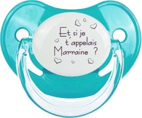 Et si je t'appelais Marraine ? : Sucette Bleue classique embout physiologique