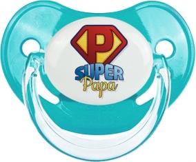 Super Papa : Sucette Bleue classique embout physiologique
