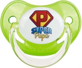 Super Papa : Sucette Vert classique embout physiologique