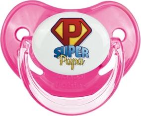 Super Papa : Sucette Rose classique embout physiologique