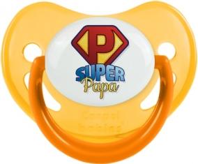 Super Papa : Sucette Jaune phosphorescente embout physiologique