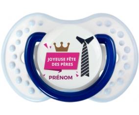 Joyeuse Fêtes des pères style 2 fille + prénom : 0/6 mois - Marine-blanc-bleu classique embout Lovi Dynamic