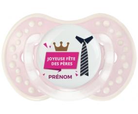 Joyeuse Fêtes des pères style 2 fille + prénom : 0/6 mois - Retro-rose-tendre classique embout Lovi Dynamic