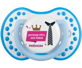 Joyeuse Fêtes des pères style 2 fille + prénom : 0/6 mois - Blanc-bleu phosphorescente embout Lovi Dynamic