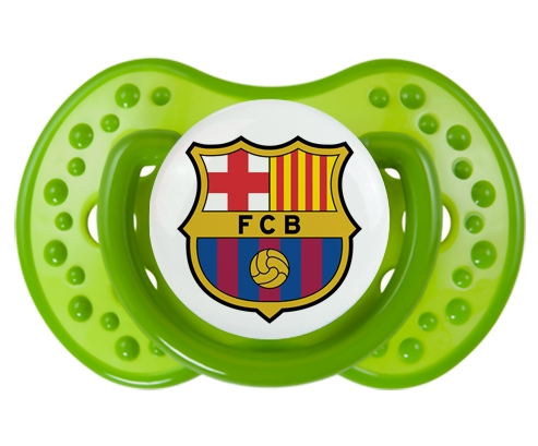 FC Barcelone + prénom : 0/6 mois - Vert classique embout Lovi Dynamic