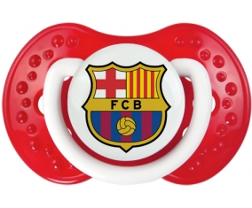 FC Barcelone + prénom : 0/6 mois - Blanc-rouge classique embout Lovi Dynamic