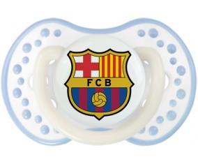 FC Barcelone + prénom : 0/6 mois - Blanc-cyan classique embout Lovi Dynamic
