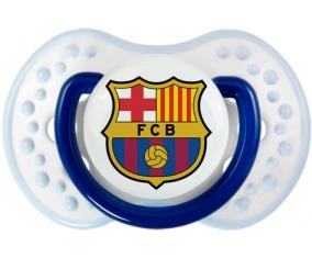 FC Barcelone + prénom : 0/6 mois - Marine-blanc-bleu classique embout Lovi Dynamic