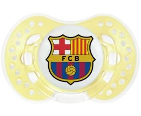 FC Barcelone + prénom : 0/6 mois - Trendy-jaune classique embout Lovi Dynamic