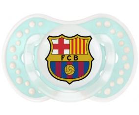 FC Barcelone + prénom : 0/6 mois - Retro-turquoise-lagon classique embout Lovi Dynamic