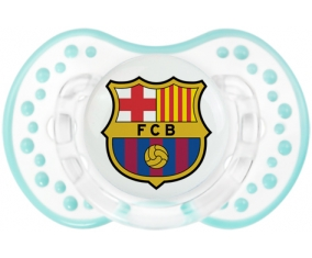 FC Barcelone + prénom : 0/6 mois - Retro-blanc-lagon classique embout Lovi Dynamic