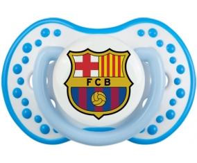 FC Barcelone + prénom : 0/6 mois - Blanc-bleu phosphorescente embout Lovi Dynamic
