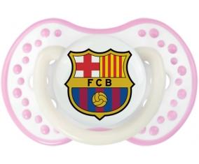FC Barcelone + prénom : 0/6 mois - Blanc-rose phosphorescente embout Lovi Dynamic
