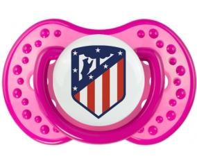 Club Atlético de Madrid + prénom : 0/6 mois - Rose classique embout Lovi Dynamic