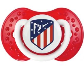 Club Atlético de Madrid + prénom : 0/6 mois - Blanc-rouge classique embout Lovi Dynamic