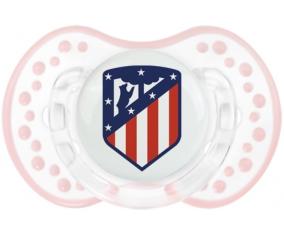 Club Atlético de Madrid + prénom : 0/6 mois - Retro-blanc-rose-tendre classique embout Lovi Dynamic