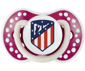 Club Atlético de Madrid + prénom : 0/6 mois - Fuchsia phosphorescente embout Lovi Dynamic