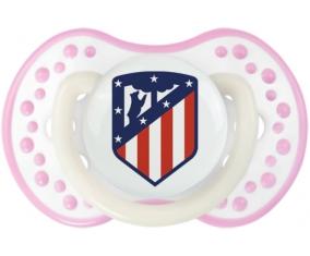 Club Atlético de Madrid + prénom : 0/6 mois - Blanc-rose phosphorescente embout Lovi Dynamic