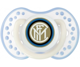 Inter de Milan + prénom : 0/6 mois - Blanc-cyan classique embout Lovi Dynamic