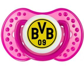 BV 09 Borussia Dortmund + prénom : 0/6 mois - Rose classique embout Lovi Dynamic