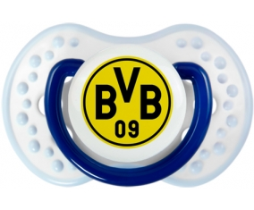 BV 09 Borussia Dortmund + prénom : 0/6 mois - Marine-blanc-bleu classique embout Lovi Dynamic