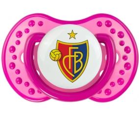 FC Bâle + prénom : 0/6 mois - Rose classique embout Lovi Dynamic