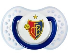 FC Bâle + prénom : 0/6 mois - Marine-blanc-bleu classique embout Lovi Dynamic