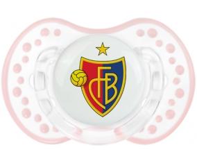 FC Bâle + prénom : 0/6 mois - Retro-blanc-rose-tendre classique embout Lovi Dynamic