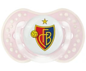 FC Bâle + prénom : 0/6 mois - Retro-rose-tendre classique embout Lovi Dynamic