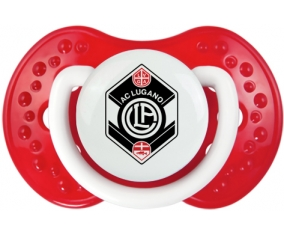 FC Saint-Gall + prénom : 0/6 mois - Blanc-rouge classique embout Lovi Dynamic