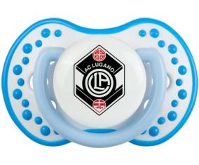 FC Saint-Gall + prénom : 0/6 mois - Blanc-bleu phosphorescente embout Lovi Dynamic