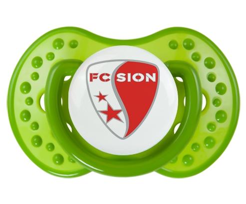 FC Sion + prénom : 0/6 mois - Vert classique embout Lovi Dynamic