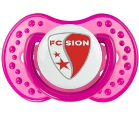FC Sion + prénom : 0/6 mois - Rose classique embout Lovi Dynamic