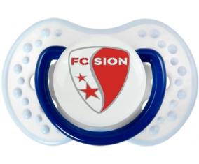 FC Sion + prénom : 0/6 mois - Marine-blanc-bleu classique embout Lovi Dynamic