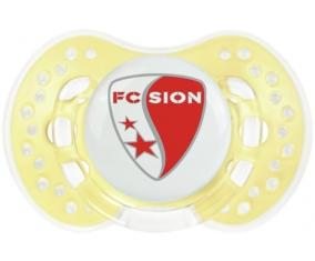 FC Sion + prénom : 0/6 mois - Trendy-jaune classique embout Lovi Dynamic