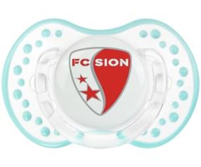 FC Sion + prénom : 0/6 mois - Retro-blanc-lagon classique embout Lovi Dynamic