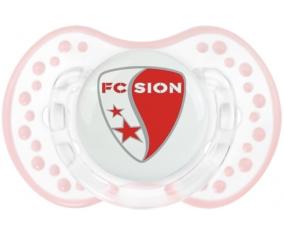 FC Sion + prénom : 0/6 mois - Retro-blanc-rose-tendre classique embout Lovi Dynamic