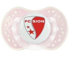 FC Sion + prénom : 0/6 mois - Retro-rose-tendre classique embout Lovi Dynamic