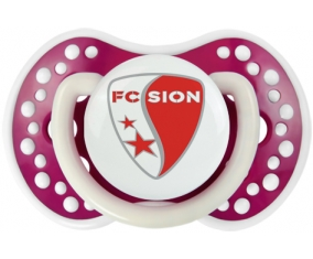 FC Sion + prénom : 0/6 mois - Fuchsia phosphorescente embout Lovi Dynamic