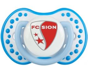 FC Sion + prénom : 0/6 mois - Blanc-bleu phosphorescente embout Lovi Dynamic