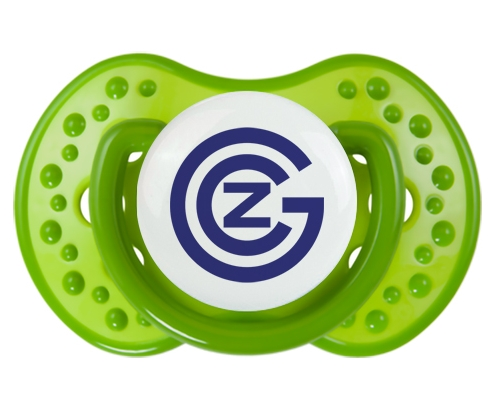 Grasshopper Zurich + prénom : 0/6 mois - Vert classique embout Lovi Dynamic