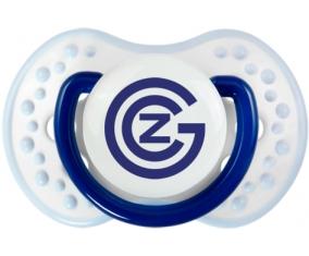 Grasshopper Zurich + prénom : 0/6 mois - Marine-blanc-bleu classique embout Lovi Dynamic