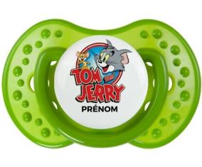 Tom & Jerry + prénom : 0/6 mois - Vert classique embout Lovi Dynamic