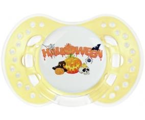 Halloween style 2 + prénom : 0/6 mois - Trendy-jaune classique embout Lovi Dynamic