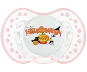 Halloween style 2 + prénom : 0/6 mois - Retro-blanc-rose-tendre classique embout Lovi Dynamic