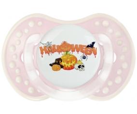 Halloween style 2 + prénom : 0/6 mois - Retro-rose-tendre classique embout Lovi Dynamic