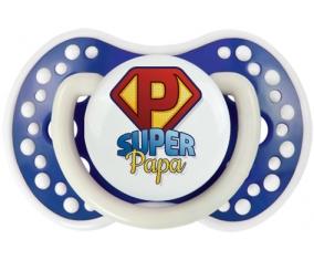 Super Papa + prénom : 0/6 mois - Bleu-marine phosphorescente embout Lovi Dynamic